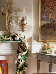 Holiday decor by Charlotte Moss.