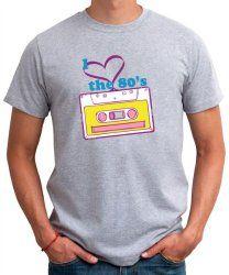 I Love The 80s cassette tape T-shirt for men