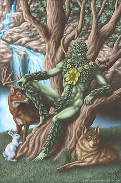 SciFi and Fantasy Art The Green Man by John A. Hays