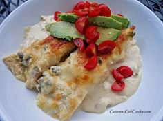 Gourmet Girl Cooks: White Chicken Enchilada Casserole - Low Carb, Grain Free & Out of this World Good!