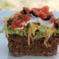 Mexican Meatloaf. Low carb AND gluten free = perfect for me :)