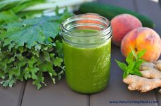 Peach Ginger Mint Smoothie   Nourishing Meals