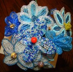 Beaded flower tutorial for your beaded floral bouquet! | Offbeat Bride