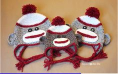 Crochet Sock Monkey Hat Pattern | Scribd
