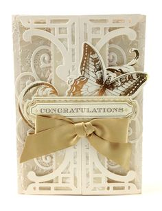 Emboss intricate lace patterns and die cut lovely flourishes with the Anna Griffin Lace Trimmings embossing folder and die bundle.