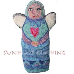 Kristena West/Sunheartclothing - SUNHEART Hooked Rug ANGEL HEART