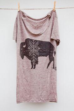 camp brand tee-bison