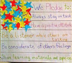 Ideas for classroom promise