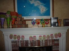 back to school banner and mantel... maybe this should be banner and mantel ideas... mantels, composit book, schools, number block, mantel idea, school banner, banner idea, banners, back to school