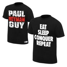 """Brock Lesnar """"Conquer"""" & Paul Heyman """"Extreme"""" Authentic T-Shirt Package- medium"""