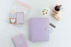 kikki.K Personal Planner in lilac leather