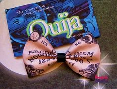 Quija  Hair bow or Bow tie  Handmade Mystical  Geeky  Gamer Bow
