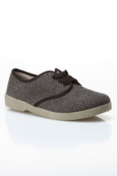 Zig Zag Herringbone Oxford Shoe