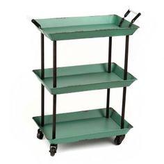 Turquoise 3-Tier Cart   Kirkland's