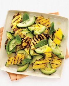 Pineapple, Basil, and Cucumber Salad Recipe