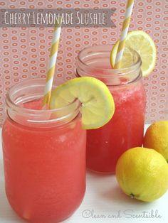 Cherry Raspberry Lemonade Slushie