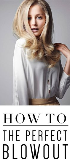 How to blow-out your hair when it's dry.