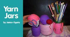How to Make Yarn Jars by Janice Ogata