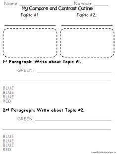 compare contrast essay model