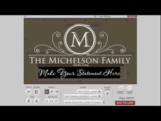How to Design a Family Monogram Wall Decal learning to monogram, famili monogram, wall decals, monogram wall