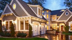 I like the way the driveway and walkway are together. vinyl siding, idea, dreams, exterior, dream homes, garage doors, dream houses, craftsman homes, design