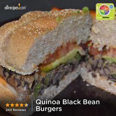 Quinoa Black Bean Burgers from Allrecipes.com #myplate #protein #grain