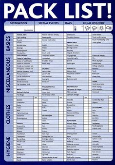 Pack List (downloadable) emergency-preparedness-first-aid