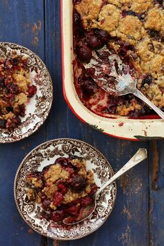 Mixed berry crumble -- a healthier alternative to one of my favorite desserts in Charleston.