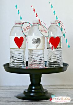 Duck Brand® duck tape | Valentine Party Water Bottles | TodaysCreativeBlog.net