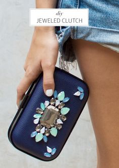 DIY: Transform an old clutch into this jeweled must have.