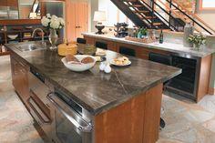 Formica laminate kitchen countertop - Slate Sequoia