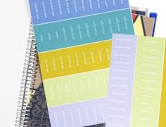 Fabulous and fun EVENT STICKERS! Perfect for use on Jumbo Calendars, Notebooks, Life Planners and even Deskpads. Personalize colorful stickers with your favorite activites, birthdays, national holidays, religious observance and other important events!