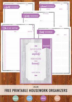 Amazing Free Printable Housework Organizer !
