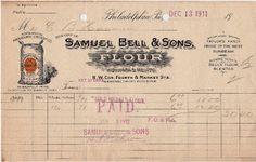 1911 Invoice - The Graphics Fairy