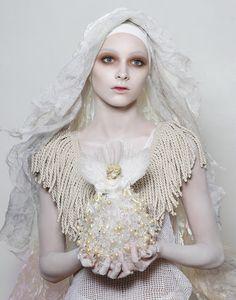 russian salad, orthodox icons, editorial, makeup, white, inspir, lucia giacani, photography, fashion shoots