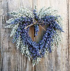 pretty lavender heart wreath