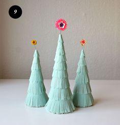christmas crafts, lar built, christma tree, flapper, christma craft, diy christmas tree, paper trees, christmas trees, crepe paper