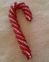 How to Make a Beaded Candy Cane