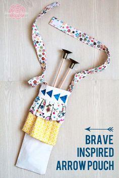 project, braveinspir arrow, idea, arrows, crafti, arrow pouch, brave arrow, diy, kid