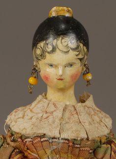 old doll head. Nice hair