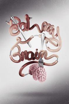 type design, graphic designers, font, digital art, text design, brain, typographi, 3d typography, design posters