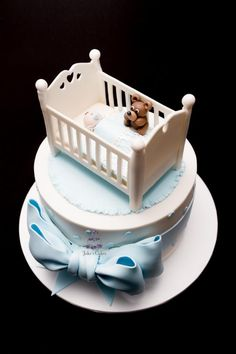 Baby cot baby shower cake - Cake by Jake's Cakes