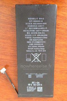 เผยภาพแบตเตอรี่ 2,915mAh ของ iPhone 6 รุ่น 5.5 นิ้ว | iPhone-Droid