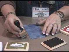 Wendy Vecchi Demos Adirondack ® Ink and Perfect Pearls™ at CHA