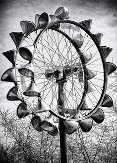 Bicycle Wheel Sculpture Photograph by Ron Regalado - Bicycle Wheel Sculpture Fine Art Prints and Posters for Sale
