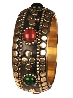 Colourful Jaded Bangle