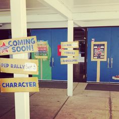 P.B Smith Elementary in Warrenton, VA utilizes the Boosterthon promotional material to decorate their campus!