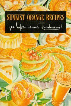Vintage Cookbook @Sunkist Growers Growers Orange Recipe Booklet