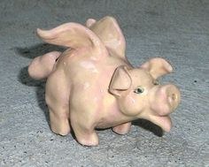 Flying Pig Clay Whistle by WhistleWoman on Etsy, $24.00