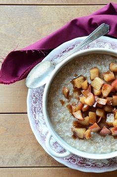 Irish Oatmeal with Hot Buttered Cinnamon Apples from @Faith Martin Gorsky Safarini